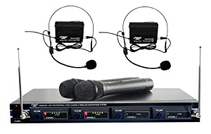 Pyle-Pro PDWM4300 4 Mic VHF Wireless Rack Mount Microphone System