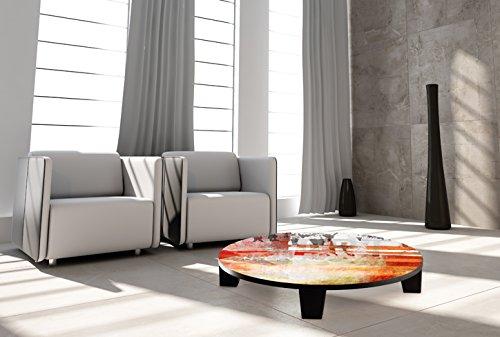 "TAF DECOR ""Move on 60 pt 2"" Art Coffee Table, 35"" X 35"" X 7.5"", Multicolored"