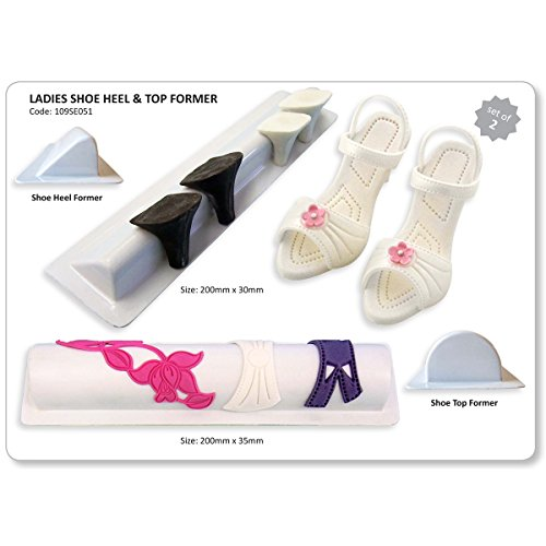 PME Ladies Shoe, Heel and Top Former Plastic Cutter Set, 2-Piece (Jem Cutters Ladies Shoes compare prices)