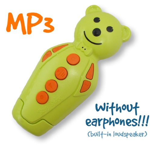 Anise green/Orange Bidou 2GB - MP3 player for babies and kids with built-in loudspeaker