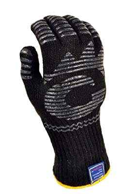 G & F 1684L-1 Dupont Nomex® & Kevlar® Heat Resistant Oven Gloves, Fireplace Gloves, & BBQ Gloves, Large, Sold by 1 Piece