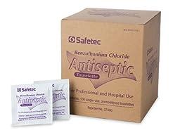 Individual BZK Antiseptic Wipes 100ct box 10 per case