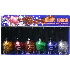Kleancolor Glitter Nail Lacquer Mini Collection-jingle Splash