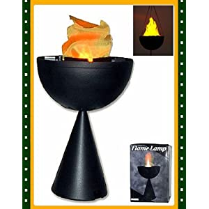 Click to read our review of Outdoor Halloween Lights: Table Top Flame Lamp Halloween Prop (B303)