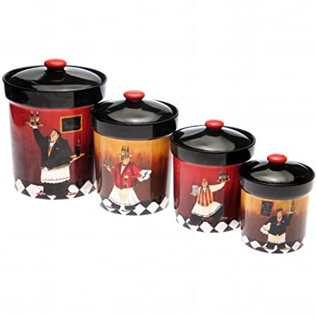 pics photos kitchen canisters bistro fat chef canister canister sets on pinterest kitchen canisters canisters