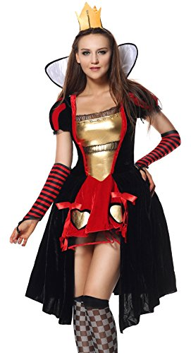 Sibeawen Women's Wicked Wonderland Queen Plus Size Costumes