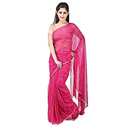 Aradhya Enterprises Women's Chiffon Saree-AE3317_Pink