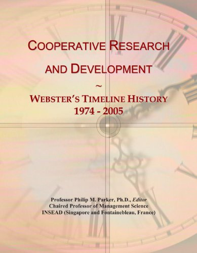 Cooperative Research and Development: Webster's Timeline History, 1974 - 2005