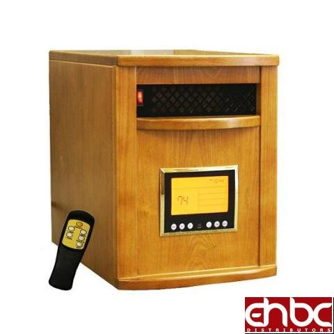 OAK 1500W PORTABLE ELECTRIC INFRARED SPACE HEATER LCD REMOTE GARAGE HOME PATIO