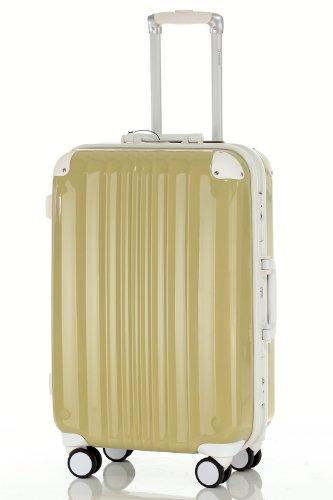 [トラベルハウス] スーツケース 超軽量 アルミフレーム ダイヤル式ロック インナーフラット (S, 抹茶グリーン)