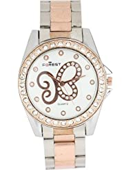 Cosmic Forest Crystal Studded Butterfly Round Dial-W140 Analog Watch - For Women
