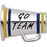 Persona Sterling Silver Go Team! Charm fits Pandora Troll & Chamilia European Charm Bracelets