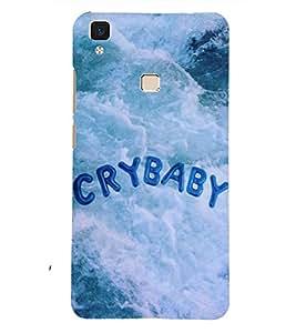 PRINTSHOPPII CRYBABY Back Case Cover for Vivo V3 Max
