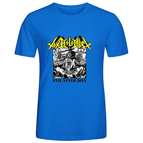 Toxic Holocaust Evil Never Dies Funny Tee Shirts For Uomo