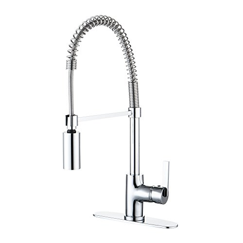 Enzo Rodi Modern Commercial Spring Single-Handle Pull-Down Sprayer Kitchen Faucet Chrome,UPC/cUPC NSF61-9 AB 1953 Compliant ERF7209251CP-10 (Faucets Chrome compare prices)