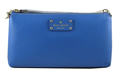 Kate Spade Byrd Wellesley Genuine Leather Small Shoulder Bag Purse Handbag Omega Blue