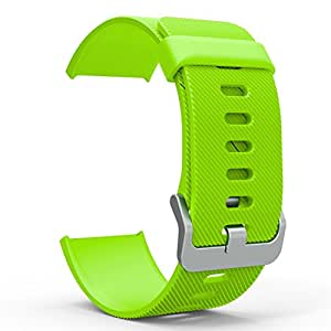 """Fitbit Blaze Accessory Band, MoKo Soft Silicone Adjustable Replacement Sport Strap Band with Quick Release Pins for Fitbit Blaze Smart Fitness Watch, Wrist Length 5.90""""-8.26"""" (150mm-210mm), GREEN"""