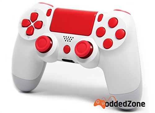 Ps4 White Controller White Red Ps4 Rapid Fire