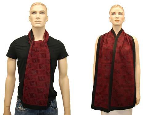 Versace antisguardi Sciarpa Scialle Sciarpa chal Bufanda con Versace-Greca-Modello, 30 x 180 cm rosso taglia unica