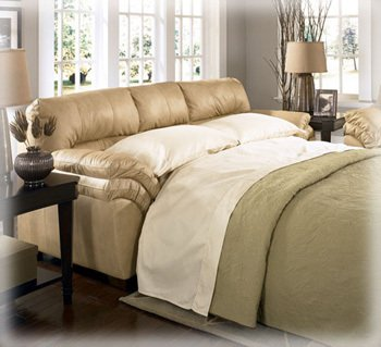 Famous Collection -Natural Full Sleeper Sofa by Famous Brand Furniture