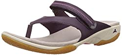 Clarks Womens Isna Slide Aubergine Flip-Flops and House Slippers - 5 UK
