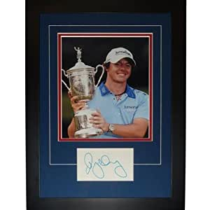 """Rory McIlroy Autographed 2011 US Open (Trophy) """"Signature Series"""" Frame"""