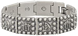 Buy Sabona Antique Horsehead Crosses Magnetic Bracelet, Large by Sabona