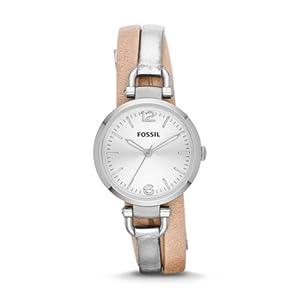 Fossil Georgia Three-Hand Leather Watch - Two-Tone Es3409