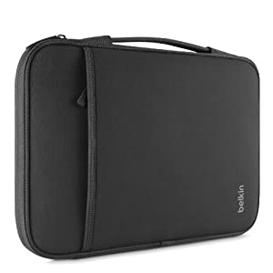 "Belkin Laptop Sleeve for Microsoft Surface Pro 3, Surface 3, Surface Pro 2, Surface Pro, MacBook Air '11, Small Chromebooks and Other 11"" Devices (Black) by Belkin Inc."
