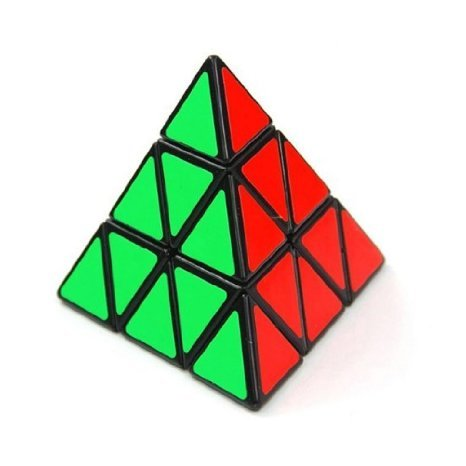Shengshou Triangle Pyramid Pyraminx Speed Magic Cube Puzzle Twist Toy Game Education - Black - 1