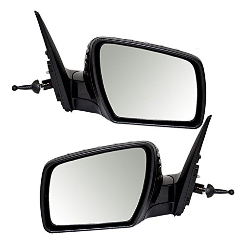 Driver and Passenger Manual Remote Side View Mirrors Ready-to-Paint Replacement for Kia KI1320160 KI1321160 (Kia Soul Driver Side Mirror compare prices)