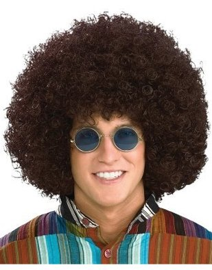 Jumbo Hippie Brown Afro Wig