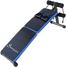 Folding Black Situp bench Workout Crunch Ab Decline Adjustable Fitness Soozier