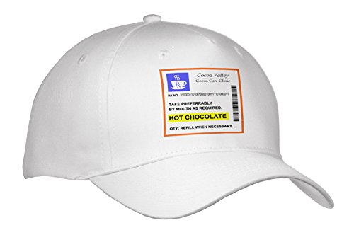 Cap_194451_1 Inspirationzstore Funny Designs - Hot Chocolate Prescription. Humorous Prescribed Drink. Joke Medicine - Caps - Adult Baseball Cap front-1067678