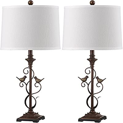 Safavieh Lighting Collection Birdsong Oil-Rubbed Bronze 28-inch Table Lamp (Set of 2)