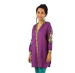 INDRICKA Purple colour Bio-silk (Modal) Tunic for womens