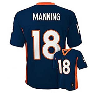 Peyton Manning #18 Denver Broncos NFL Youth Alternate Jersey Navy (Youth Small 8)