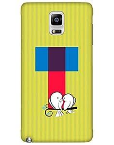 Bikzone Back Cover For Samsung Galaxy Note 4 (Multicolor)
