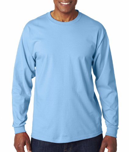 Fruit Of The Loom 6 Oz.; 100% Cotton Lofteez Hd� Long-Sleeve T-Shirt - Light Blue - Xl