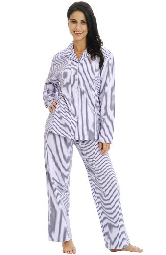 Del Rossa Women's 100% Cotton Long Sleeve Pj Set with ...