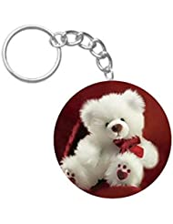 Cute Teddy Bear | ShopTwiz Circle Printed Key Rings