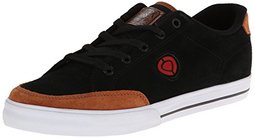 C1RCA Men's AL50 Slimm Fashion Sneaker,Black/Leather Brown,10.5 M US