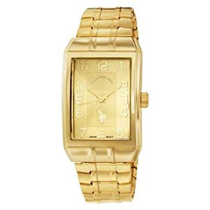 U.S. Polo Assn. Classic Men's USC80045 Classic Analogue Gold Dial Expansion Watch