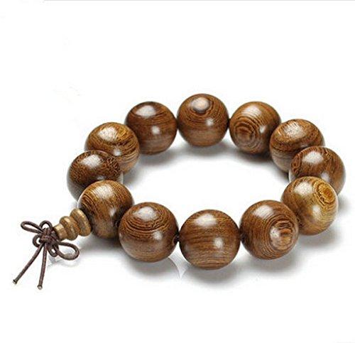 budista-color-amarillo-claro-pulsera-perlas-de-madera-acabado