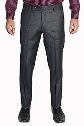 Legato Men's Formal Pant(LEG1001-XL_Grey_36)