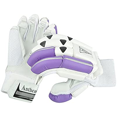 Anthem Python Cricket Batting Gloves (Full Size, White)