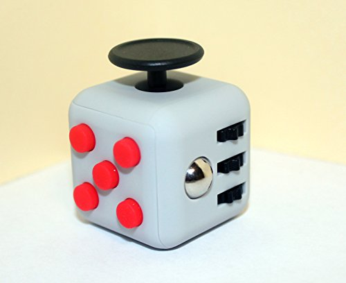 Gray Red Fidget Cube
