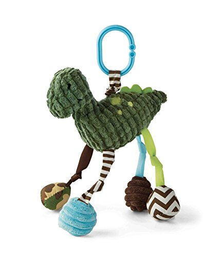 Mud Pie Dino Stroller Toy, Dark Green
