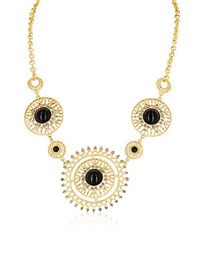 Chicstyle Collar Cabochon Metal Dorado / Negro