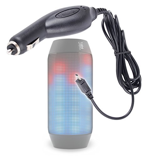 Duragadget Micro Usb In-Car Power Supply With 1 Meter Lead For Jbl Pulse Wireless Bluetooth Speaker